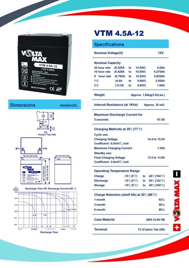 باتری voltamax VTM 4.5