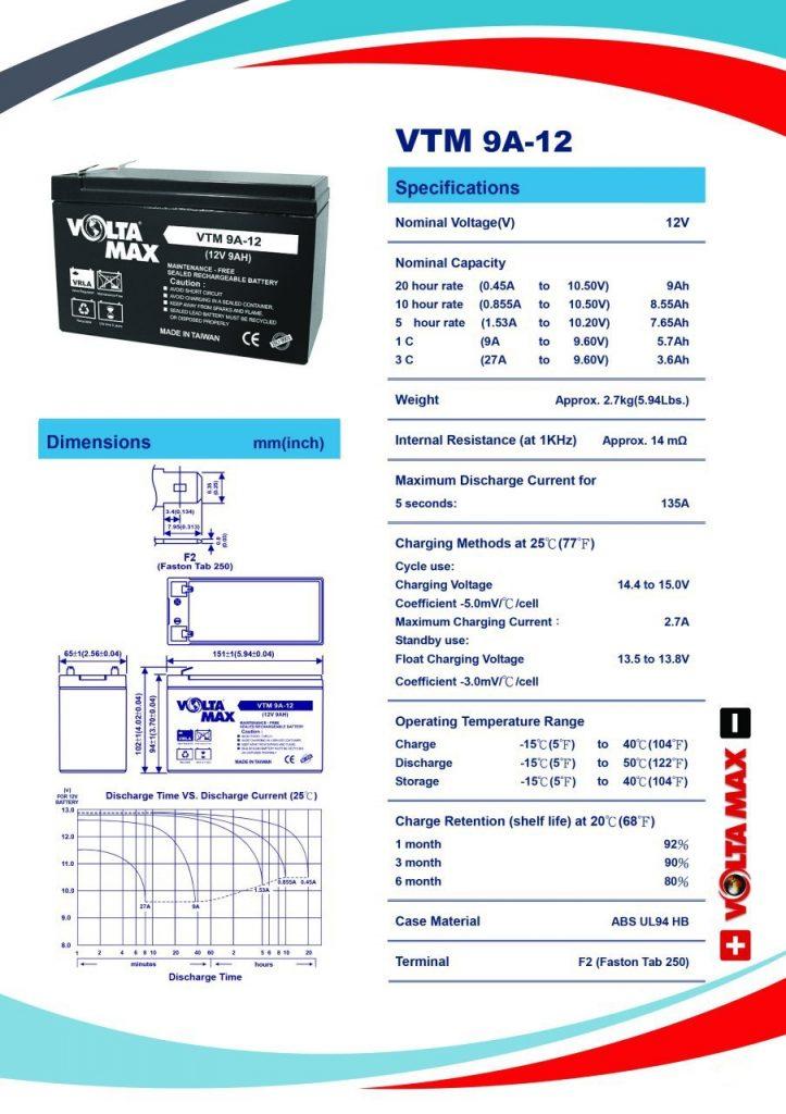باتری voltamax VTM 9AH